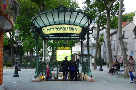 Metrostation Abbesses Parijs